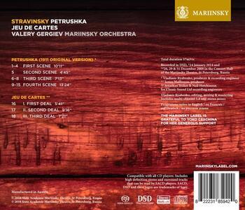Petrushka (Versione originale, 1911) - SuperAudio CD di Igor Stravinsky,Valery Gergiev,Orchestra del Teatro Mariinsky - 2