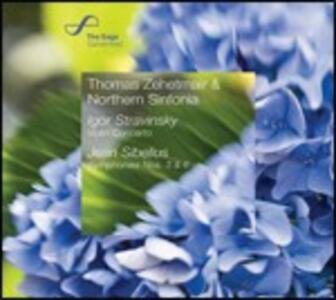 Sinfonie op.52 n.3, op.104 n.6 / Concerto per violino in Re - CD Audio di Jean Sibelius,Igor Stravinsky,Thomas Zehetmair,Northern Sinfonia