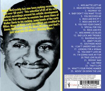 Jimmy's Blues 1945-51 - CD Audio di Jimmy McCracklin - 2