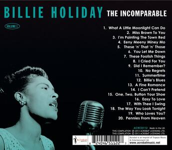 The Incomparable Volume 1 - CD Audio di Billie Holiday - 2