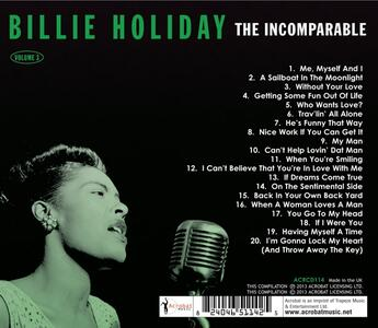 The Incomparable Volume 3 - CD Audio di Billie Holiday - 2