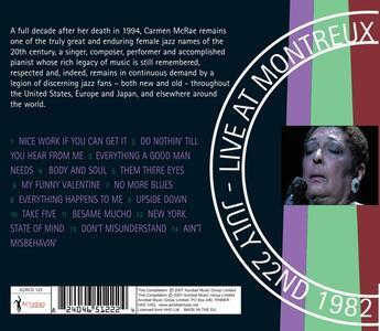 Live at Montreux 1982 - CD Audio di Carmen McRae - 2