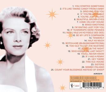 Greatest Hits 1948-54 - CD Audio di Rosemary Clooney - 2