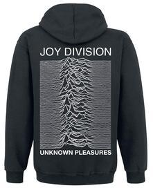 Felpa Con Cappuccio Unisex Joy Division. Unknown Pleasures. Taglia L