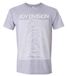 T-Shirt Unisex Joy Division. Unknown Pleasures (Grey)