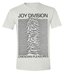 T-Shirt Unisex Tg. S White Joy Division. Unknown Pleasures