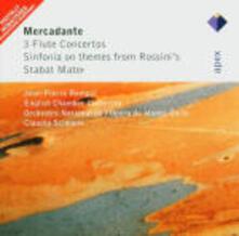 Concerti per flauto - Sinfonia - Stabat Mater - CD Audio di Saverio Mercadante,Jean-Pierre Rampal,Claudio Scimone,English Chamber Orchestra
