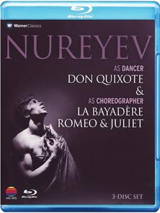 Nureyev As Dancer and As Choreographer (3 Blu-ray) di Robert Helpmann,Rudolf Nureyev