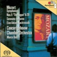 Sinfonie n.5, n.29 - Serenata K525 - SuperAudio CD ibrido di Wolfgang Amadeus Mozart,Royal Concertgebouw Orchestra,Marco Boni