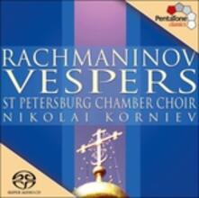 Vespri op.37 - SuperAudio CD ibrido di Sergej Vasilevich Rachmaninov,Nikolai Korniev