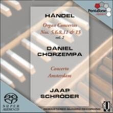 Concerti per organo n.5, n.6, n.8, n.11, n.13 - SuperAudio CD ibrido di Georg Friedrich Händel,Concerto Amsterdam,Jaap Schröder,Daniel Chorzempa