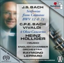 Concerti per oboe - SuperAudio CD ibrido di Carl Philipp Emanuel Bach,Johann Sebastian Bach,Antonio Vivaldi,Musici,Heinz Holliger,Raymond Leppard,English Chamber Orchestra