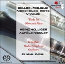 Concerti per oboe e flauto - SuperAudio CD ibrido di Heinz Holliger,Aurele Nicolet,Eliahu Inbal,Radio Symphony Orchestra Francoforte