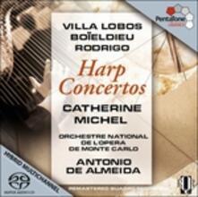 Concerti per arpa - SuperAudio CD ibrido di Heitor Villa-Lobos,Joaquin Rodrigo,François-Adrien Boieldieu,Antonio de Almeida