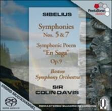 Sinfonie n.5, n.7 - En Saga - SuperAudio CD ibrido di Jean Sibelius,Sir Colin Davis,Boston Symphony Orchestra