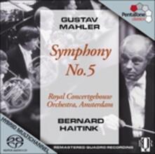 Sinfonia n.5 - SuperAudio CD ibrido di Gustav Mahler,Bernard Haitink,Royal Concertgebouw Orchestra