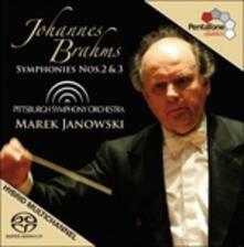 Sinfonie n.2, n.3 - SuperAudio CD ibrido di Johannes Brahms,Marek Janowski,Pittsburgh Symphony Orchestra