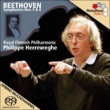 Sinfonie n.5, n.8 - SuperAudio CD ibrido di Ludwig van Beethoven,Philippe Herreweghe,Royal Flemish Philharmonic Orchestra