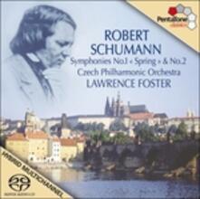 Sinfonie n.1, n.2 - SuperAudio CD ibrido di Robert Schumann,Lawrence Foster,Czech Philharmonic Orchestra
