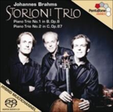 Trii con pianoforte n.1, n.2 - SuperAudio CD ibrido di Johannes Brahms