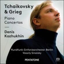 Concerti per pianoforte - SuperAudio CD ibrido di Edvard Grieg,Pyotr Ilyich Tchaikovsky,Denis Kozhukhin