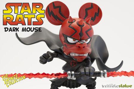 Giocattolo Rat-Man. Infinite Collezione 04 Darkmouse Statue Infinite