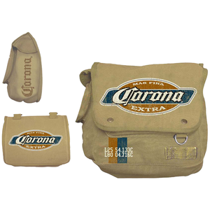 Cartoleria Borsa Tracolla Corona. Tan Canvas Messenger Bag Bioworld