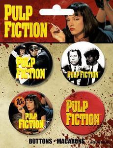 Pulp Fiction Buttons 4 Pack - 2