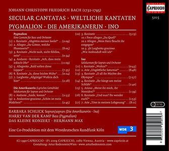 Weltliche Kantaten - CD Audio di Johann Christian Bach