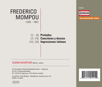 Olena Kushpler - CD Audio di Frederic Mompou - 2