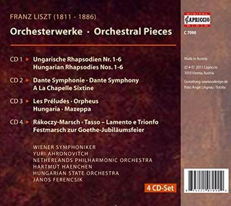 Orchestral Pieces - CD Audio di Franz Liszt