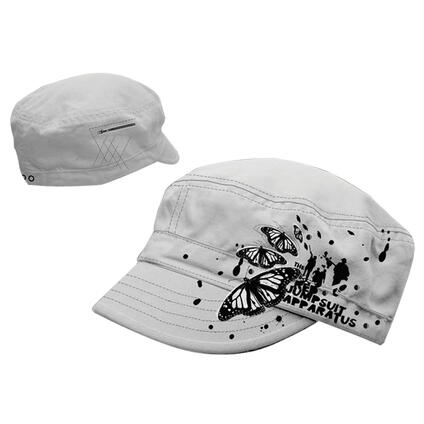 cappellino Rja. White Cadet With Flock Print And Studds