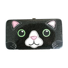 Portafoglio Freaks and Friends. Cat Glitter Face Hinge