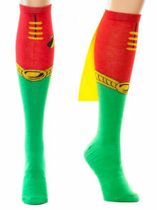 Calzini Robin. Knee High With Cape