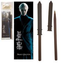 Bacchetta Penna+Segnalibro Harry Potter. Draco Malfoy Wand Pen And Bookmark