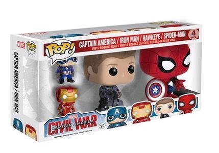Funko POP! Marvel. Captain America 3. Captain America, Iron Man, Hawkeye, Spider-Man. 4-Packs - 3