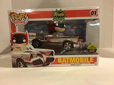 Funko POP! Rides Batman 66. Chrome Batmobile & Batman SDCC 2016 Exclusive Set