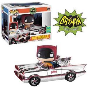 Funko POP! Rides Batman 66. Chrome Batmobile & Batman SDCC 2016 Exclusive Set - 4