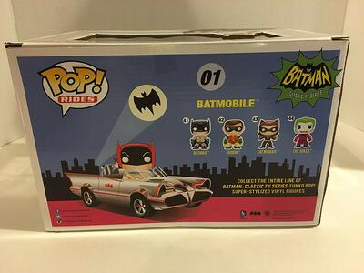 Funko POP! Rides Batman 66. Chrome Batmobile & Batman SDCC 2016 Exclusive Set - 6