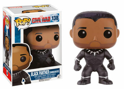 Funko POP! Marvel. Captain America 3. Civil War. Black Panther Unmasked. - 3