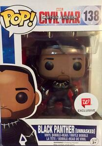 Funko POP! Marvel. Captain America 3. Civil War. Black Panther Unmasked. - 12