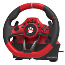 Hori NSW-228U periferica di gioco Sterzo + Pedali Nintendo Switch Analogico USB Nero, Rosso