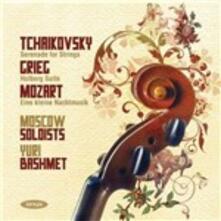Suite Holberg - Serenata per archi - Eine Kleine Nachtmusik - CD Audio di Edvard Grieg,Wolfgang Amadeus Mozart,Pyotr Ilyich Tchaikovsky