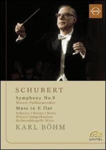 Franz Schubert. Symphony No. 9, Mass in E flat. Karl Bohm - DVD