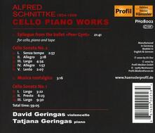 Cello Piano Works - CD Audio di Alfred Schnittke