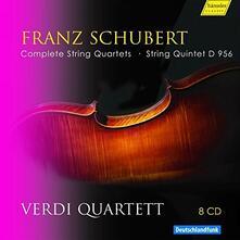 Quartetti per archi completi (Box Set) - CD Audio di Franz Schubert,Verdi Quartett