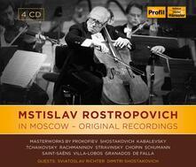 In Moscow. Original Recordings - CD Audio di Mstislav Rostropovich