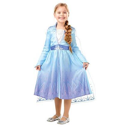 Frozen 2 Classic  Costume Elsa Travel, S (3-4 anni), multicolore