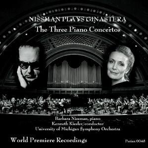 Three Piano Concertos - CD Audio di Alberto Ginastera