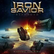 Reforged. Riding on Fire (Blue Vinyl Limited Edition) - Vinile LP di Iron Savior
